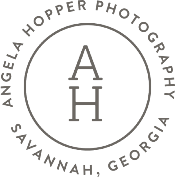 Circular Angela Hopper Photography in Savannah, Georgia logo
