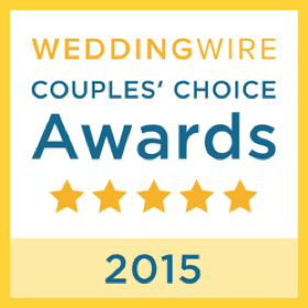 WeddingWire Couples' Choice Awards five-star 2015 badge
